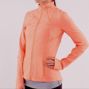 - Lululemon Bright Coral Forme Zip Up Jacket